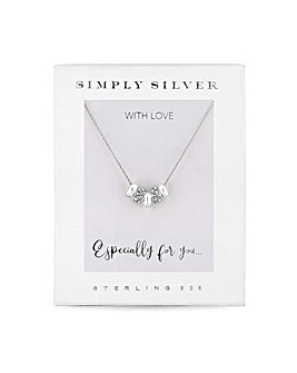 Simply Silver Charmed Pendant Necklace