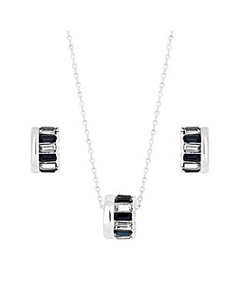 Jon Richard Blue Barrel Pendant Set
