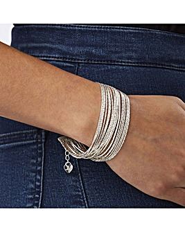 Lipsy Silver Plated Slinky Bracelet