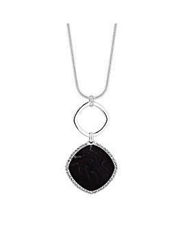MOOD Crystal And Black Toggle Necklace