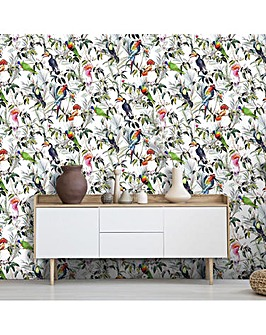 Fresco Amazon Tropical Multi Colour Floral  Wallpaper