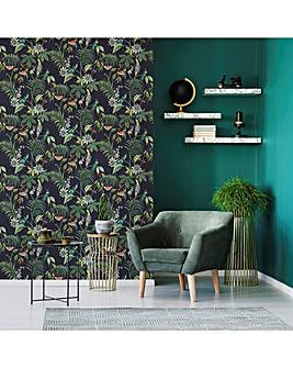 Adilah Dark Tropical Floral W/Paper