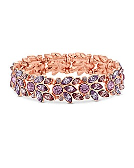 Lipsy Rose Gold Plated Leaf Bracelet