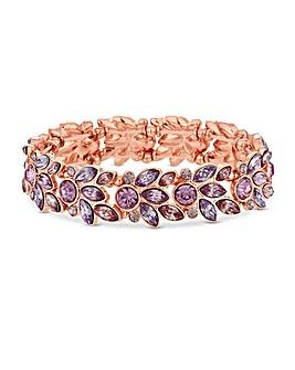 Lipsy Rose Gold Plated Leaf Bracelet
