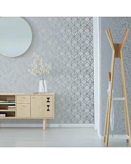 Vittorio Grey/Silver Geo W/Paper