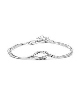 Simply Silver Slinky Knot Bracelet
