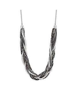 MOOD Faux Pearl Twist Allway Necklace