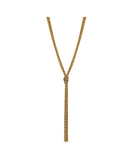 MOOD Gold Twist Chain Lariat Necklace