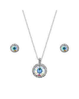 MOOD Round Crystal And Pave Surround Set