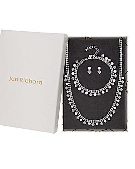 Jon Richard Faux Pearl Necklace Set