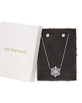 Jon Richard Cubic Zirconia Snowflake Set