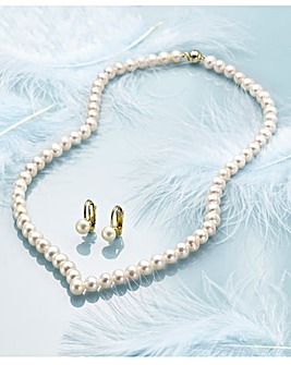Pearl Wishbone Necklace