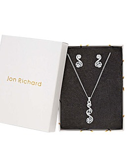 Jon Richard Pendant And Earring Set
