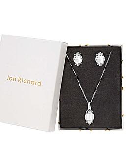 Jon Richard Crystal Pendant And Stud Set