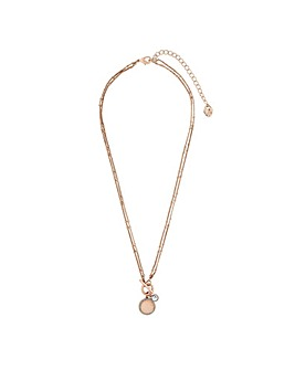 Lipsy Rose Gold Plated Round Pendant