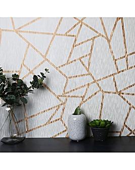 White/Gold Theia Geo W/Paper