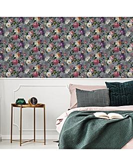 Grey Isabelle Floral W/Paper