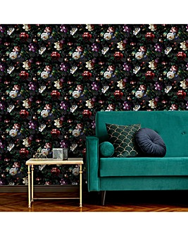 Black Isabelle Floral W/Paper