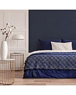 Sapphire Marquise Plain Textured Wallpaper