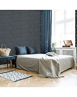 Superfresco Easy Navy Heritage Plain Textured Wallpaper