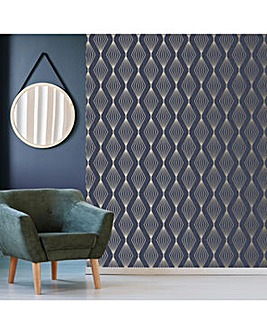 Sapphire Marquise Geometric Wallpaper