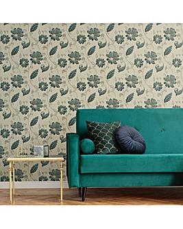 Emerald Juliet Floral Wallpaper