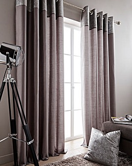 Morgan Metallic Top Border Curtains