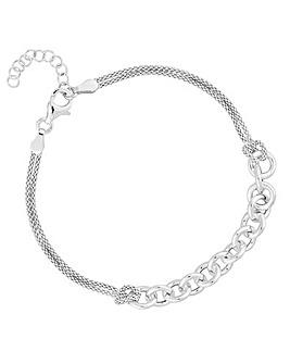 Simply Silver Multistrand Bracelet