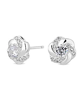 Simply Silver Floral Stud