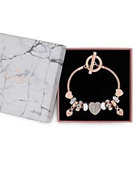 Lipsy Crtystal Pave Charm Gift Bracelet
