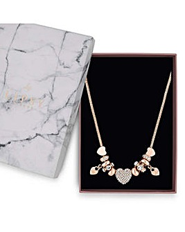 Lipsy Crystal Pave Charm Gift Necklace