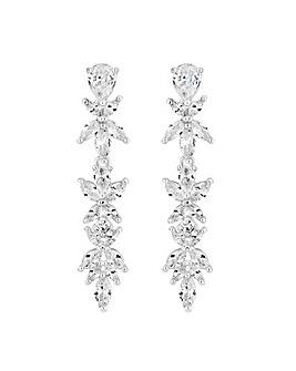 Alan Hannah Leaf Crystal Drop Earring
