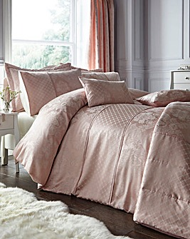 Windsor Jacquard Soft Pink Duvet Cover Set