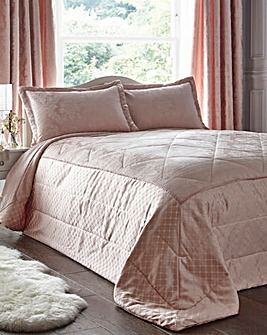 Windsor Jacquard Soft Pink Throw