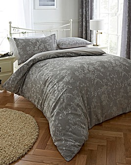 Sophia Jacquard Grey Duvet Cover Set
