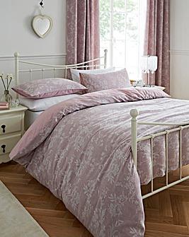 Sophia Jacquard Pink Duvet Cover Set