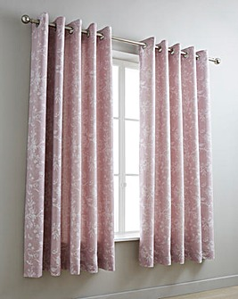 Sophia Jacquard Pink Curtains