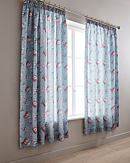 Anna Faux Silk Curtains With TieBacks