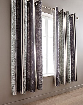 Kensington Jacquard Eyelet Curtains