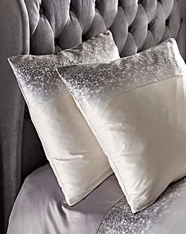Kylie Glitter Fade Square Pillowcase