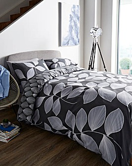 Catherine Lansfield Hadley Charcoal Duvet Cover Set