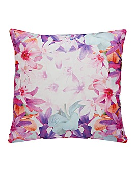 Lipsy Bright Peony Filled Cushion