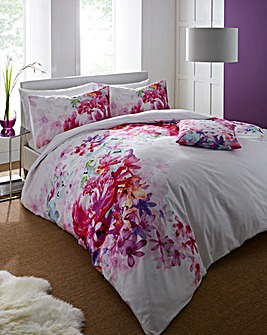Lipsy Bright Peony Cotton Duvet Set