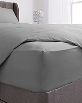 100% Cotton Percale 200 Thread Count Extra Deep Fitted Sheet