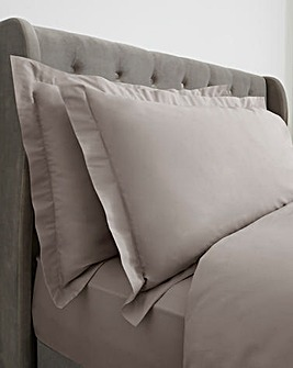 100% Cotton Percale 200 Thread Count Oxford Pillow Cases