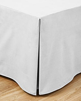 100% Cotton Percale 200 Thead Count Base Valance Sheet