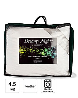 Dreamy Nights Duck Feather & Down 4.5 Tog Duvet