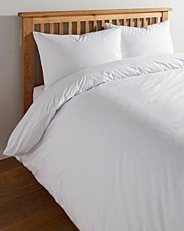 White Cotton Rich 180 TC Duvet Cover