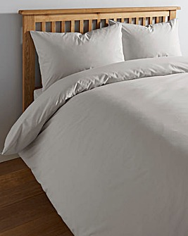 Grey Cotton Rich 180 TC Duvet Cover