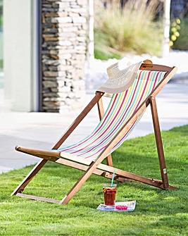 Riva Wooden deck chair Multi Stripe
